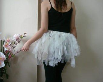 Girls Tutu Skirt, tulle skirts for teen, adults Small size tattered skirt festival clothing