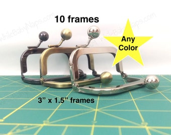 10 of 3x1.5 nickel metal coin purse frames
