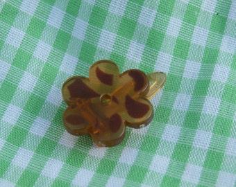 Tiny Flower Shaped Barrette Hair Clip, Vintage