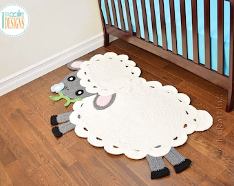 NEW PATTERN Baa Baa Easter Lamb Rug PDF Crochet Pattern with Instant Download