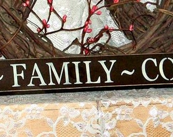 God Family Country - Primitive Country Shelf Sitter, Painted Wood Sign, Patriotic Sign, Patriotic Decor