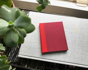 Colorblock // Small Hardcover Book // Maroon & Beige