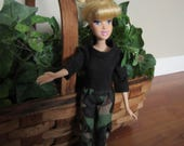 "Handmade Barbie Clothes, Camo Barbie Pants, 11 1/2"" Doll Clothes, Barbie Pants, Fashion Doll Clothes, Toys and Games, Doll Clothes, Toys"
