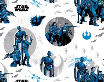 Star Wars- Rebels in White-  your choice of cut