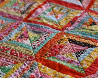 Vintage Inspired Bright Baby Quilt