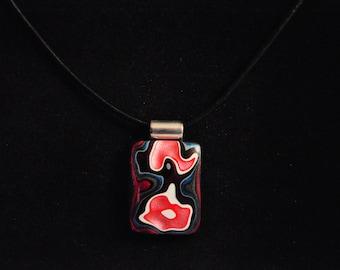 Fordite Pendant necklace, vintage, auto paint, OOAK