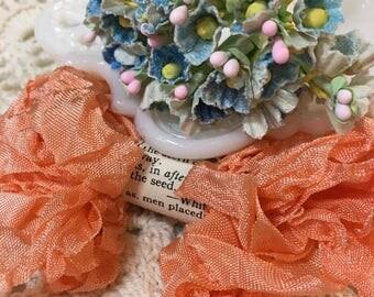 Shabby Cantalope Crinkled Seam Binding Trim