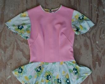 30% off// Vintage 60s 70s HARAJUKU Style Pink PANDA Onesie Costume (s-m)