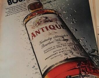 Antique bourbon ad circa 1968 Kentucky straight bourbon