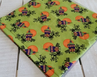 Chic or Treat fabric remnant