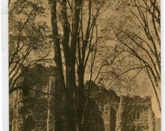 Memorial Chapel College of Wooster Ohio 1950s postcard
