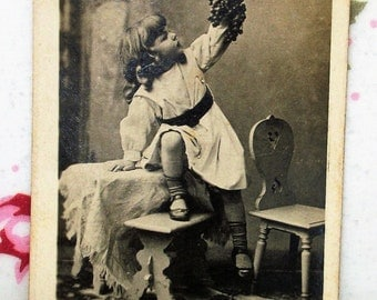 4 Vintage Photographs - Advertising w/ Sweet Young Girls