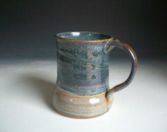 Hand thrown stoneware pottery beer mug   (BM-3)