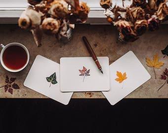 card set 'autumn leaves'