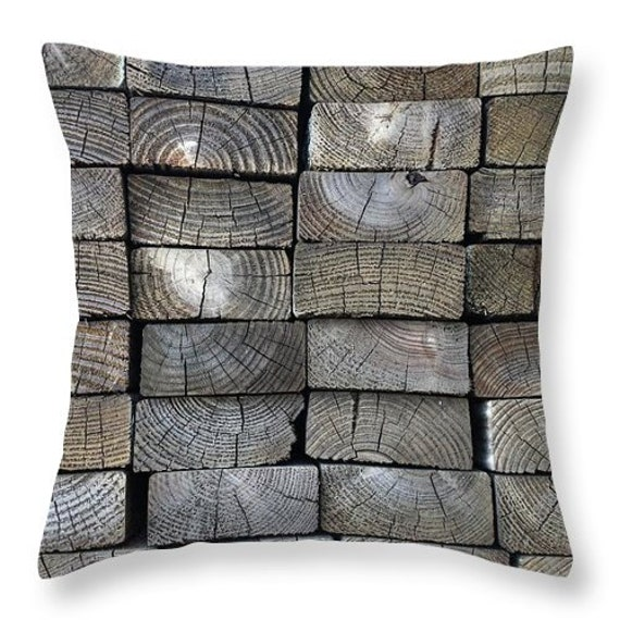 Man Cave Pillows : Pillow man cave throw lumber two by four home