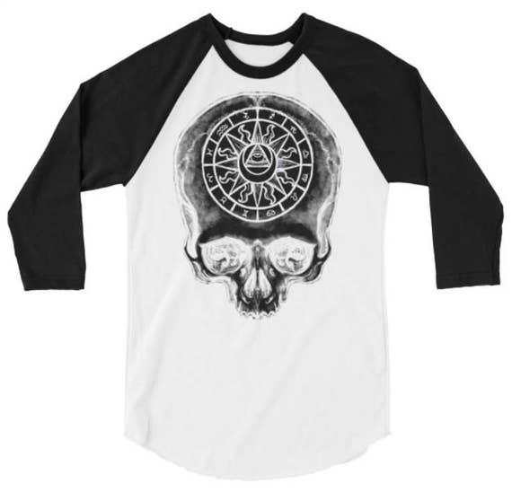 Astrology Skull Raglan
