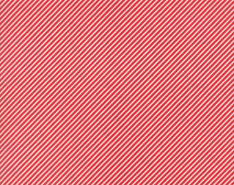 Ruby Red Pink Stripe from Basics Collection by Bonnie and Camille for Moda Fabrics