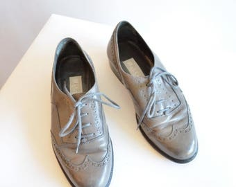 30% OFF storewide // SALE / Vintage 1980s PUCCINI leather oxfords / 5.5