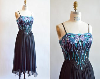 Vintage 1980s CASADEI sequined party dress