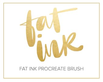 Fat Ink - Thick and Thins - Calligraphy Lettering Procreate Brush