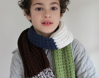 KNITTING PATTERN- Ben's Scarf knitting pattern PDF