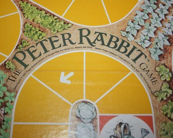 Vintage 1978 The Peter Rabbit Game Board Game Listing for Game Board ONLY!