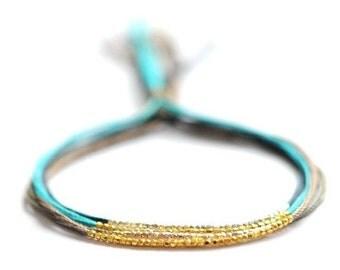SALE items ship March 1st Bracelet. Friendship bracelets. Silk Bracelet. Gold beaded bracelet.