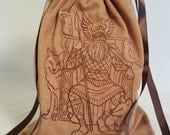 Norse God, Odin Embroidered Tarot Bag/Pouch