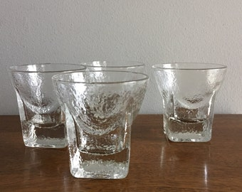 mid century modern rocks whiskey glass set of 4