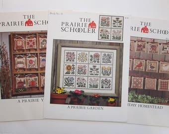 The Prairie Schooler cross stitch book - YOUR CHOICE - A Prairie Year, A Prairie Garden, Holiday Homestead - 1986-1992