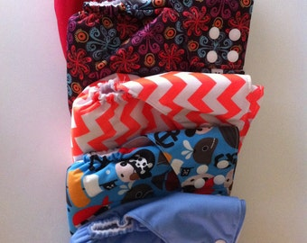 Ready to ship - All-in-one Cloth Diaper - Snaps