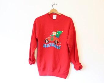 Vintage Ugly Christmas Santa Hum Bug Sweatshirt Sweater