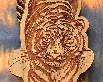 Tiger Bookmark, Tiger Shaped Bookmark, Wood Bookmark, Animal Bookmark, Bookmark