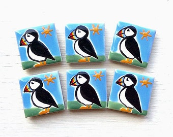 Puffin Magnet, Fridge Magnet, Bird Magnet, Stationary Magnets, Gift for Teacher, Seabirds