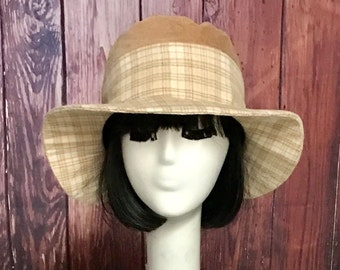 Wool Bucket Hat, Floppy Hat, Panama Hat, Corduroy Hat, Bucket Hat, Boho Hat, bohemian hat, Wide Brim Hat, Vintage Wool Hat, Packable Hat