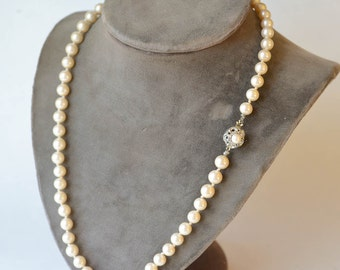 Pearl Necklace Vintage Faux Pearl Necklace
