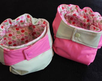 AIO cloth diapers Springtime apples