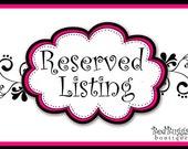 Reserved listing for Ashlee Drake