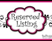 Reserved listing for  Angela Garcia