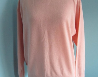 Womens Long Sleeved Pullover Wool and Angora Sweater