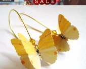 Paper Earrings - Paper Goods - Paper Jewelry - Canary Yellow Earrings - Mustard Yellow Jewelry