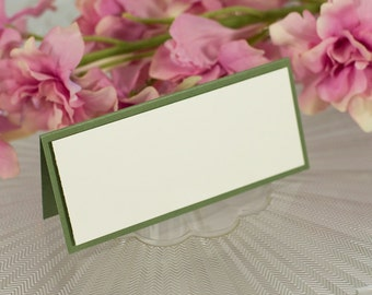 Blank, Double-Layered Seating Card