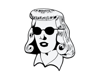 Double Indemnity enamel lapel pin - classic movies Barbara Stanwyck pin