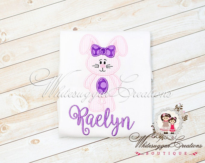 Girls Easter Bunny Shirt - Personalized Girl Shirt - Baby Girl Easter Outfit