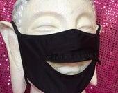 Custom black zipper mask