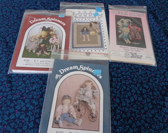 Doll Making and Wall Hanging - Four  kits for dollmaking One of them is a wall hanging - Dreamspinners, Cornall Collection and Oregon spring