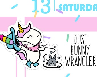 Dust Bunny Wrangler - Sprinkles Dusting/Cleaning Planner Stickers