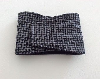 Belly Band - Male Dog Diaper - Black and Gray Houndstooth - Available in all Sizes