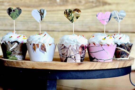 Realtree™ Camo Cupcake Wrappers - Realtree AP, Max 4, Realtree Pink, XtraGreen, and Camo Snow!