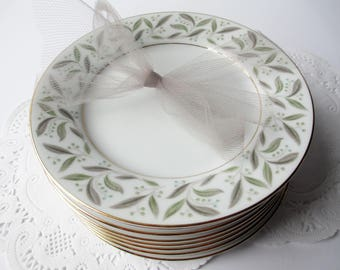 Vintage Bread and Butter Plates Noritake Carole Set of Eight